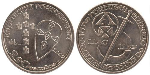 250 эскудо 1989 Португалия — 850 лет образования Португалии