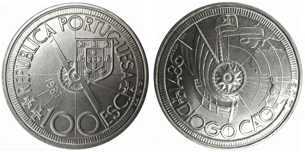 100 эскудо 1987 Португалия — Золотой век открытий — Диогу Кан