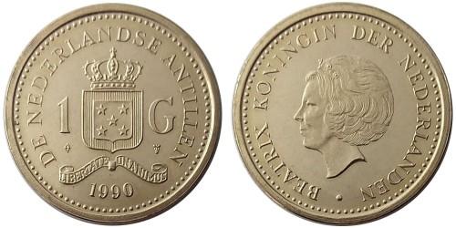 1 гульден 1990 Нидерландские Антильские острова