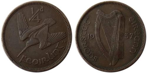 1 фартинг 1937 Ирландия