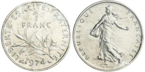 1 франк 1974 Франция