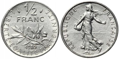 1/2 франка 1985 Франция