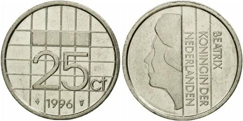 25 центов 1996 Нидерланды