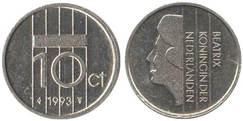 10 центов 1993 Нидерланды