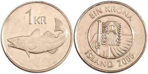 1 крона 2006 Исландия