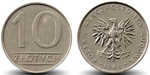10 злотых 1988 Польша