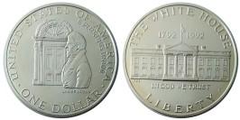1 доллар 1992 D США — 200 лет Белому Дому — серебро