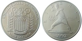 1 доллар 1992 D США — XXV летние Олимпийские Игры, Барселона 1992 — серебро №1