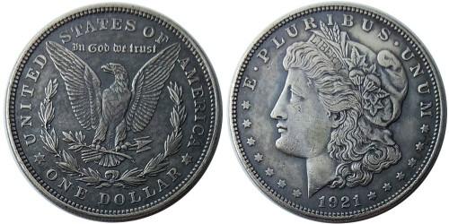 1 доллар 1921 США — Доллар Моргана — серебро №1