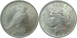 1 доллар 1922 США — Peace Dollar — серебро №4