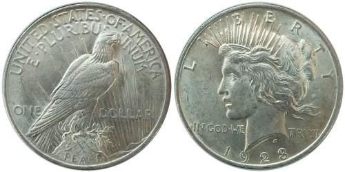 1 доллар 1923 США — Peace Dollar — серебро №1
