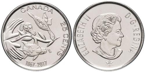 25 центов 2017 Канада — 150 лет Конфедерации Канада — Надежда на зелёное будущее