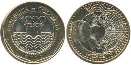 1000 песо 2012 Колумбия — Черепаха UNC