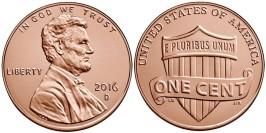 1 цент 2016 D США UNC