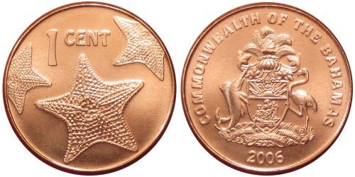 1 цент 2006 Багамские Острова UNC