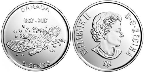 5 центов 2017 Канада — 150 лет Конфедерации Канада — Живые традиции UNC
