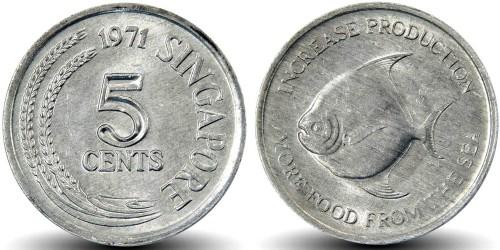 5 центов 1971 Сингапур — ФАО