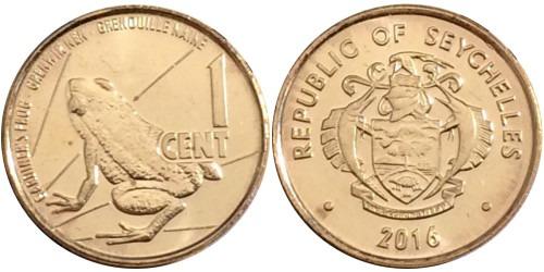 1 цент 2016 Сейшельские острова UNC