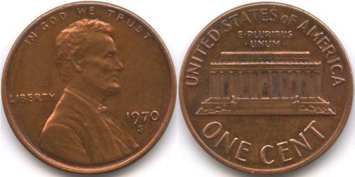 1 цент 1970 S США