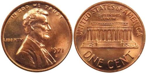 1 цент 1971 S США