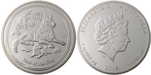1 доллар 2018 Австралия — Китайский гороскоп — год собаки — копия