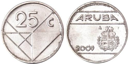 25 центов 2009 Аруба