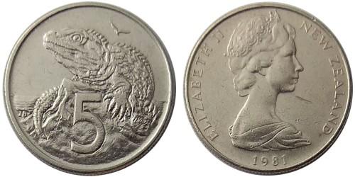 5 центов 1981 Новая Зеландия