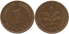 1 пфенниг 1971 «J» ФРГ