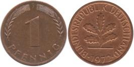 1 пфенниг 1972 «J» ФРГ