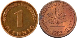 1 пфенниг 1983 «D» ФРГ