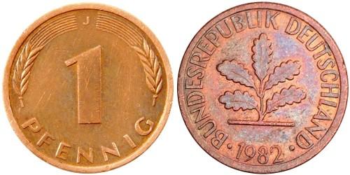 1 пфенниг 1982 «J» ФРГ