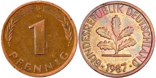 1 пфенниг 1987 «G» ГДР