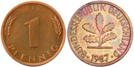 1 пфенниг 1987 «J» ГДР