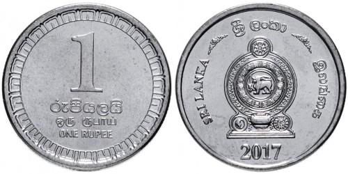 1 рупия 2017 Шри — Ланка UNC