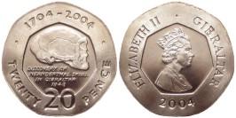 20 пенсов 2004 Гибралтар — 300 лет захвату Гибралтара