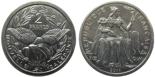 2 франка 2011 Новая Каледония
