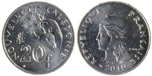 20 франков 2010 Новая Каледония