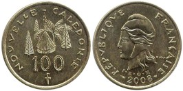 100 франков 2008 Новая Каледония