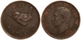 1 фартинг 1951 Великобритания