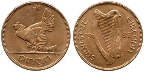 1 пенни 1935 Ирландия