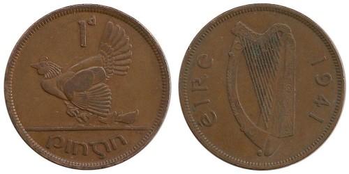 1 пенни 1941 Ирландия
