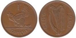 1 пенни 1963 Ирландия