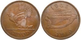 1 пенни 1968 Ирландия