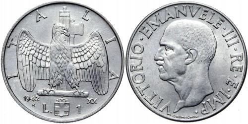 1 лира 1942 Италия