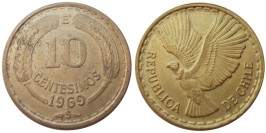 10 сентесимо 1969 Чили