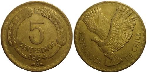 5 сентесимо 1964 Чили