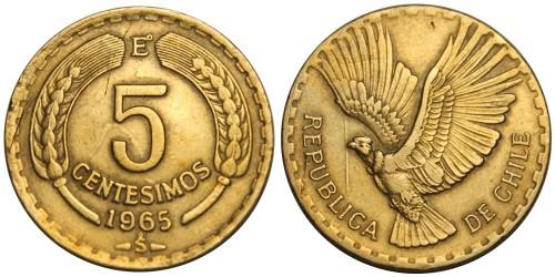 5 сентесимо 1965 Чили