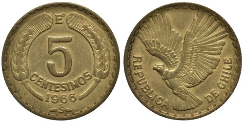 5 сентесимо 1966 Чили