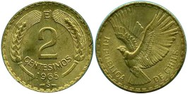 2 сентесимо 1965 Чили