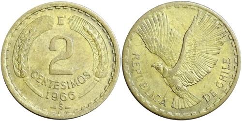 2 сентесимо 1966 Чили